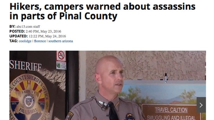 Drug Cartel Infiltrating Key Arizona Hunting Areas