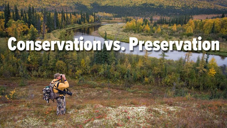conservation versus preservation Muir promoted preservation and pinchot advocated for conservation pinchot's vision of managed conservation basically meant that lands owned by the federal government could not only be used for recreation by the general public but could also be used, responsibly, by industry for logging, mining and many other purposes including extensive.