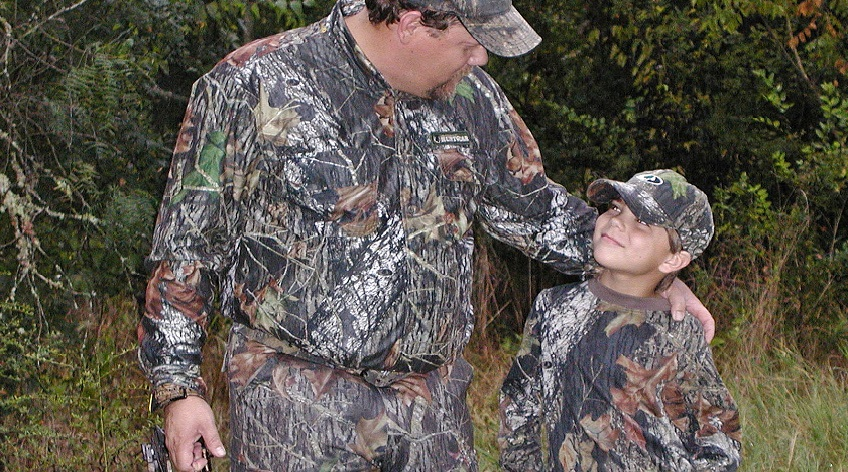 Kevin Reese and Jacob Reese celebrate National Hunting and Fishing Day, Sept. 22, 2018.