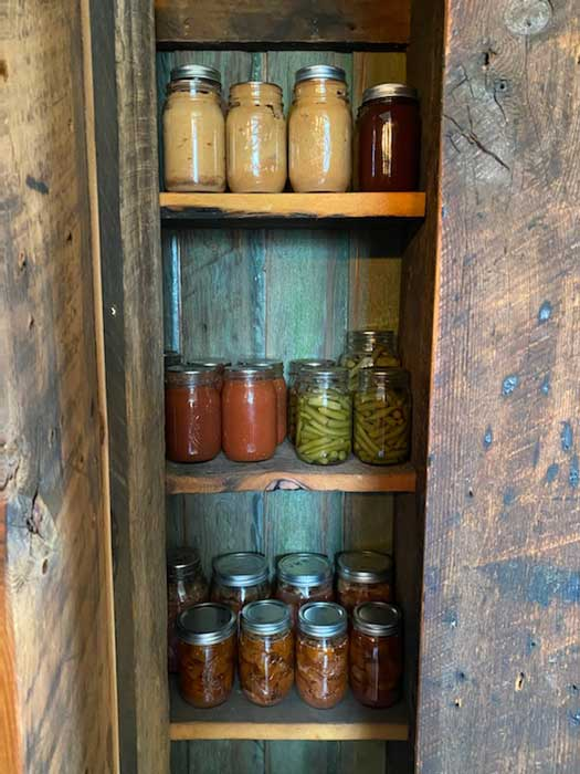 A full larder gives one a sense of satisfaction and confidence is one's self-sufficiency. (Image by Christina Loudin-Edwards.)