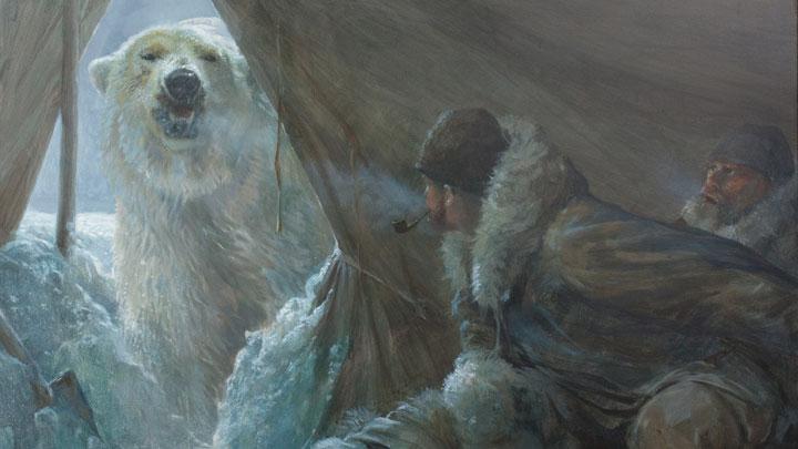 """John Seerey-Lester """"Polar Intrusion"""" painting"""