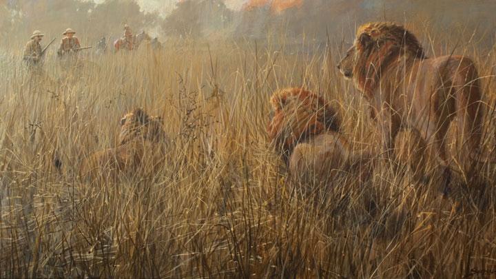 "John Seerey-Lester ""Dawn Patrol"" painting"