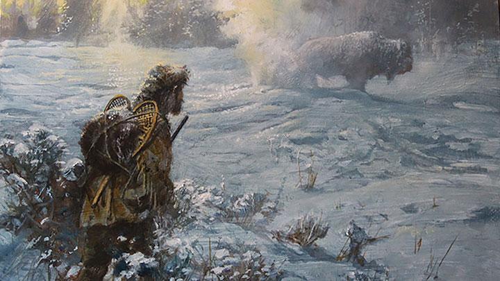 "John Seerey-Lester's ""Colter's Hell"" painting"