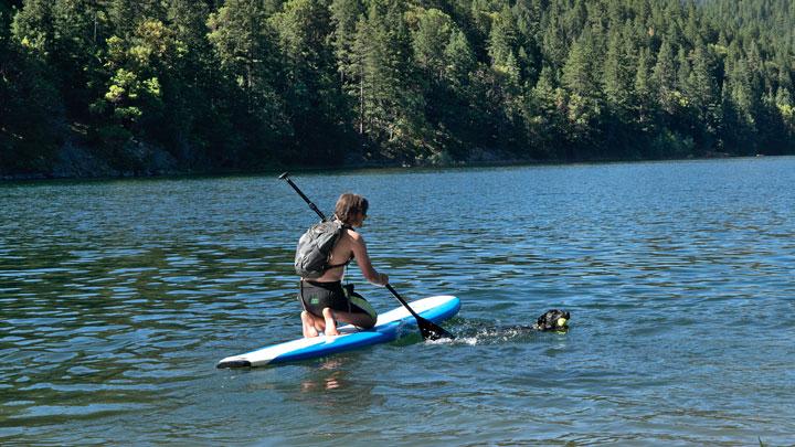 paddle-boarder in Colorado