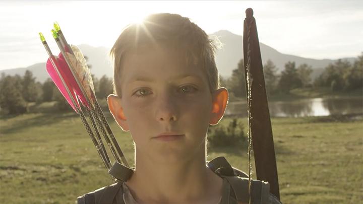 portrait of boy archer
