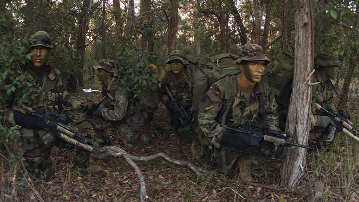 U.S. Marines on reconnaissance mission