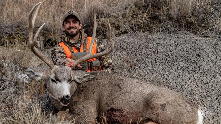 steve soholt poses with a trophy mule deer