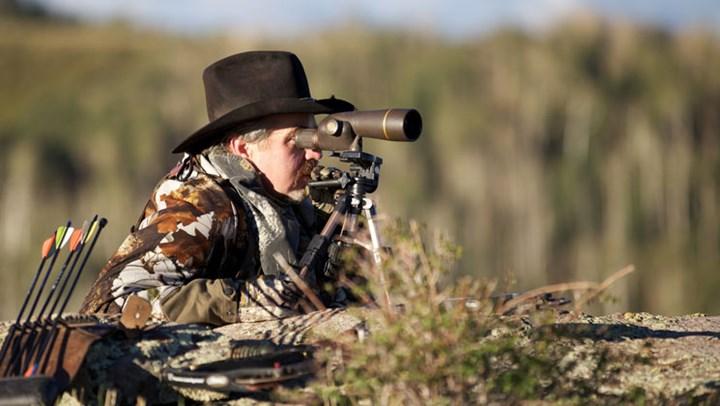 hunter glasses through spotting scope