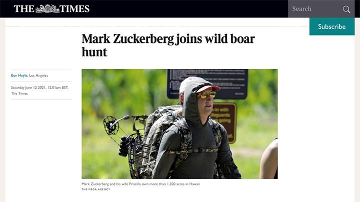 Facebook CEO Mark Zuckerberg Goes Viral over Hunter Training