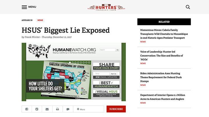 HSUS Biggest Lie Exposed